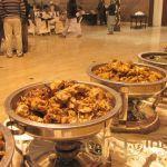 chicken karahi display in wedding